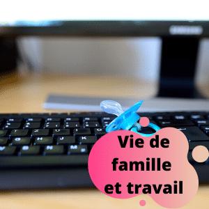 vignette famille et travail